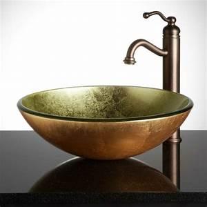 La vasque ronde en 45 photos choisissez la votre for Salle de bain design avec vasque en verre castorama