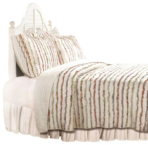 Quilt And Sham Set by Greenland Home Ruffle Quilt Sham Set 3 King