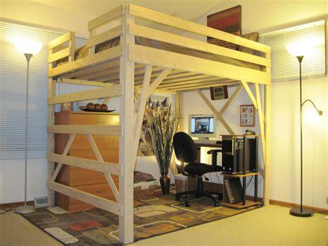 bureau mezzanine ikea plywood loft bed
