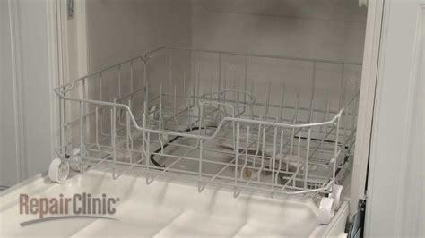 dishwasher  dish rack assembly replacement ge dishwasher repair part wdx youtube