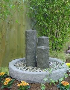 saulenbrunnen springbrunnen brunnen granitwerkstein stein With französischer balkon mit brunnen deko garten