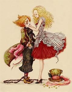 alice in wonderland, cute, illustration, mad hatter ...