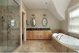 Bath Surrounded By Beige Marble Extending From Floor And Shower Wonderful Master Bathroom Design Ideas Incredible Simple Bathroom Tile Designs On Bathroom Decorating Ideas Decorating Ideas Gallery In Bathroom Traditional Design Ideas