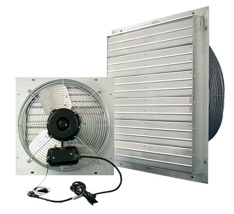 industrial fans direct com vpes outdoor rated shutter exhaust fan w cord 24 inch