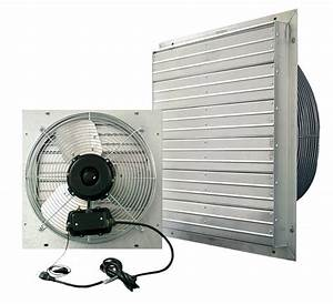 VPES Outdoor Rated Shutter Exhaust Fan w/ Cord 24 inch ...