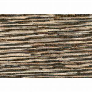 Kenneth James 8 in. x 10 in. Masami Grey Grasscloth ...