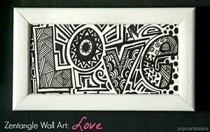 "Make Your Own Zentangle Wall Art: ""Love"" Pearmama"