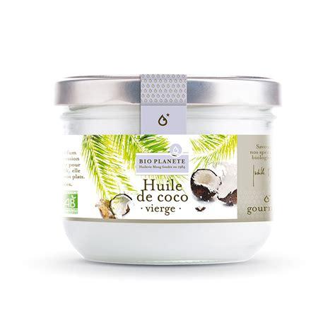 huile coco cuisine huile de coco vierge bio planete cheveux
