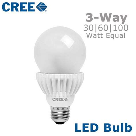 cree led 3 way light bulb three way switched bulb