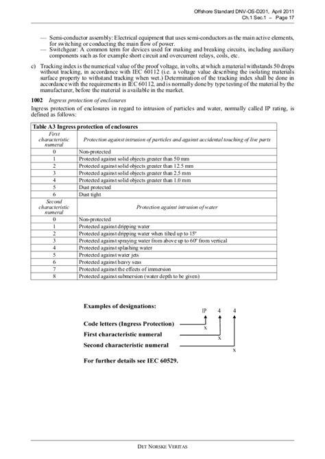 DNV Electrical Installations Standard DNV OS D201 April 2011