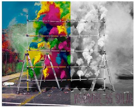 black and white to color solar powered magazines visionaire adds color to black