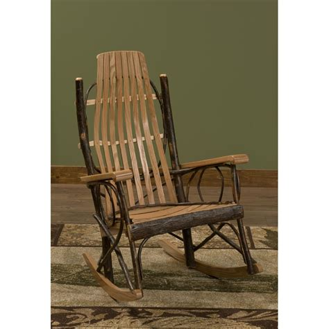 quality bentwood hickory rocker free shipping the log