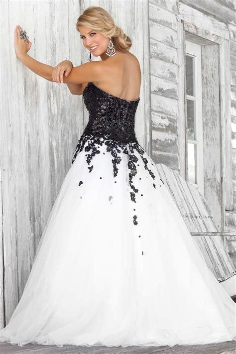 30 black and white wedding dresses combination fashion