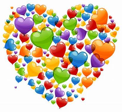Colorful Heart Rainbow Hearts Clipart Valentine Emoticons