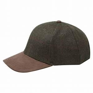 tweed baseball cap in brown schoffel