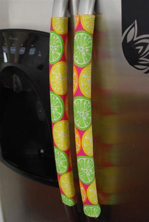 diy velcro refrigerator handle covers good idea