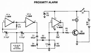 Proximity Alarm Circuit Diagram Project