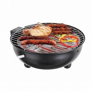 Petit Barbecue Électrique : barbecue de table lectrique rond noir 1250 w grills ~ Farleysfitness.com Idées de Décoration