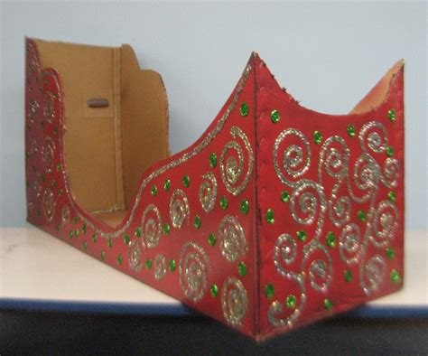 diy paper sleigh kids best photos of cardboard sleigh cut outs how to make a