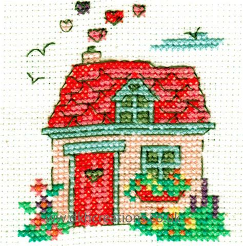 happiness is home sweet home mini cross stitch kit