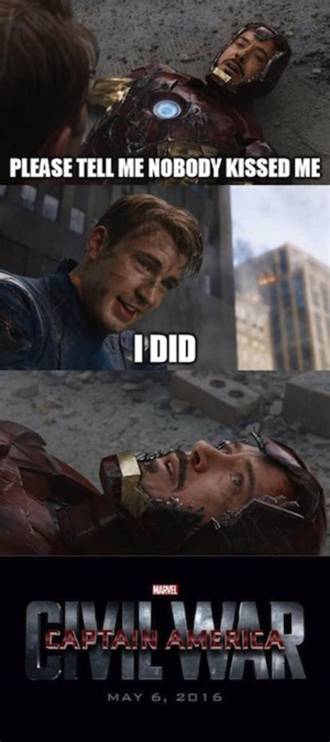 captain america war civil iron meme vs memes marvel avengers funny god joke steve fight them cap always there