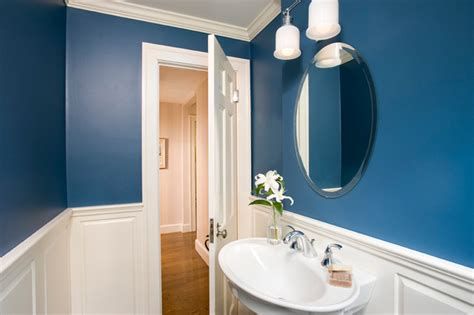 Small Blue Bath  Traditional  Bathroom  Boston By