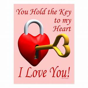Key To My Heart : you hold the key to my heart i love you postcard ~ Buech-reservation.com Haus und Dekorationen