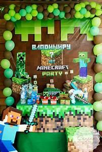 Decoracion de minecraft para fiesta