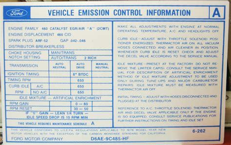 valve cover emission decal broncograveyardcom