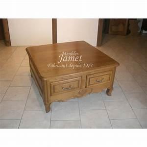 Table De Salon Carrée : table de salon carr e en bois meubles jamet ~ Teatrodelosmanantiales.com Idées de Décoration