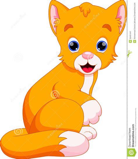 cat cartoon stock illustration image  cheerful child