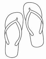 Pages Coloring Shoes Flip Flop Summer Flops Spec Drawings Crafts Shoe Sheets Template Beach Craft sketch template