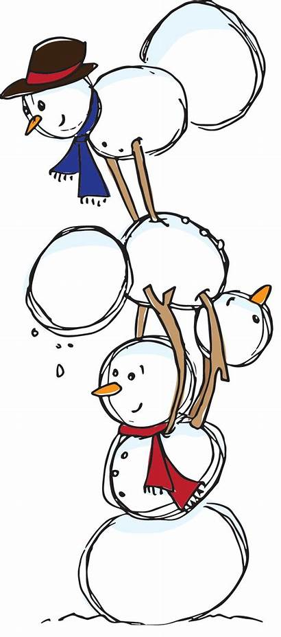 Snoman Holiday Clipart Winter Stack Gymnastics Clip