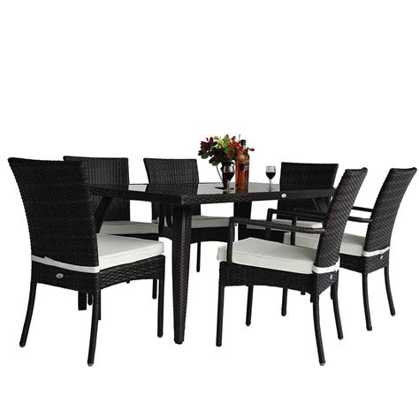 rattan 6 seat garden dining set ideal home show shop