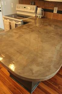 DIY Concrete Kitchen Countertops