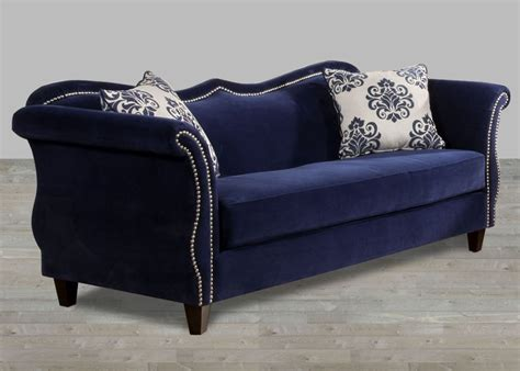 Cheap Bedroom Benches by Royal Blue Fabric Sofa Nailhead Trim Fabric Sofas
