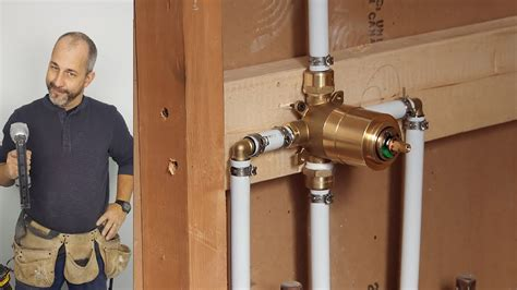 How To Install Copper To Pex Shower And Bath Plumbing Doovi