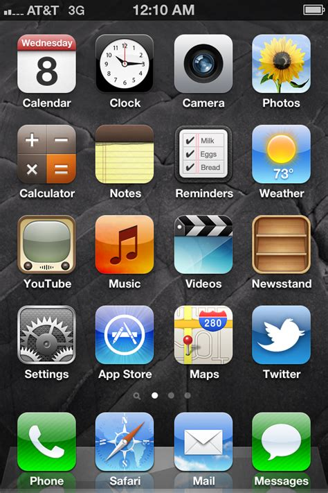 how to take a screenshot on iphone 5 screen iphone 4 on ios 5 by roeiboot on deviantart