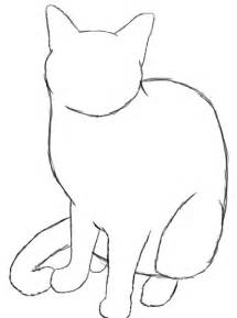 cat drawing easy how to draw a cat draw central