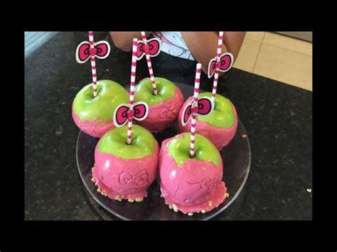 How to make Hello Kitty Candy Apples - The easy way ...