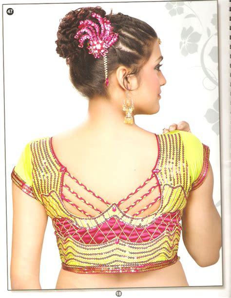 latest blouse  neck designs images anjali blouse