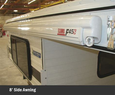 interior exterior features  wheel campers  profile light weight pop  truck campers