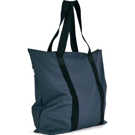 rains waterproof tote bag blue  sportique