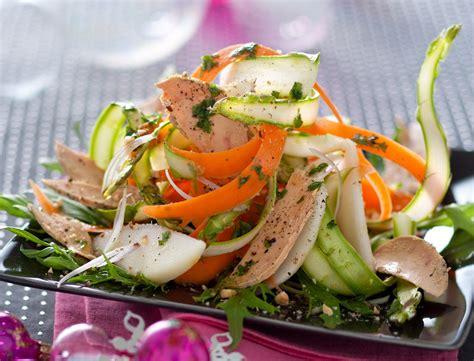 nos recettes de salades entre terre et mer femme actuelle