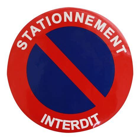disque de stationnement interdit   cm autocollant