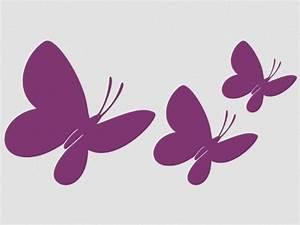 Wandtattoo Kinderzimmer Schmetterlinge : wandtattoo schmetterlinge 3 st ck wandaufkleber motiv 7 violett 40 ~ Sanjose-hotels-ca.com Haus und Dekorationen