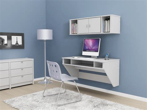 white wall mounted desk elegant wall mounted desk with storage and hutches on blue