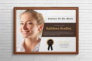 employee of the month certificate template with picture - employee of the month certificate stationery templates