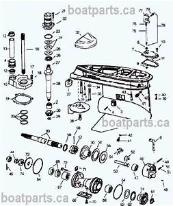 Omc Cobra Prop Shaft Parts Drawing  Lower Unit