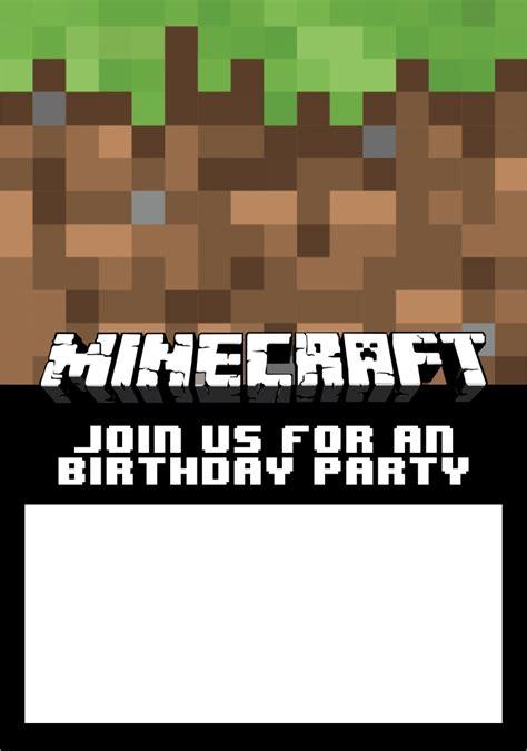 sticks minecraft party printables  printableecom